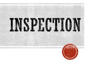 Tip for Buyers - Inspection