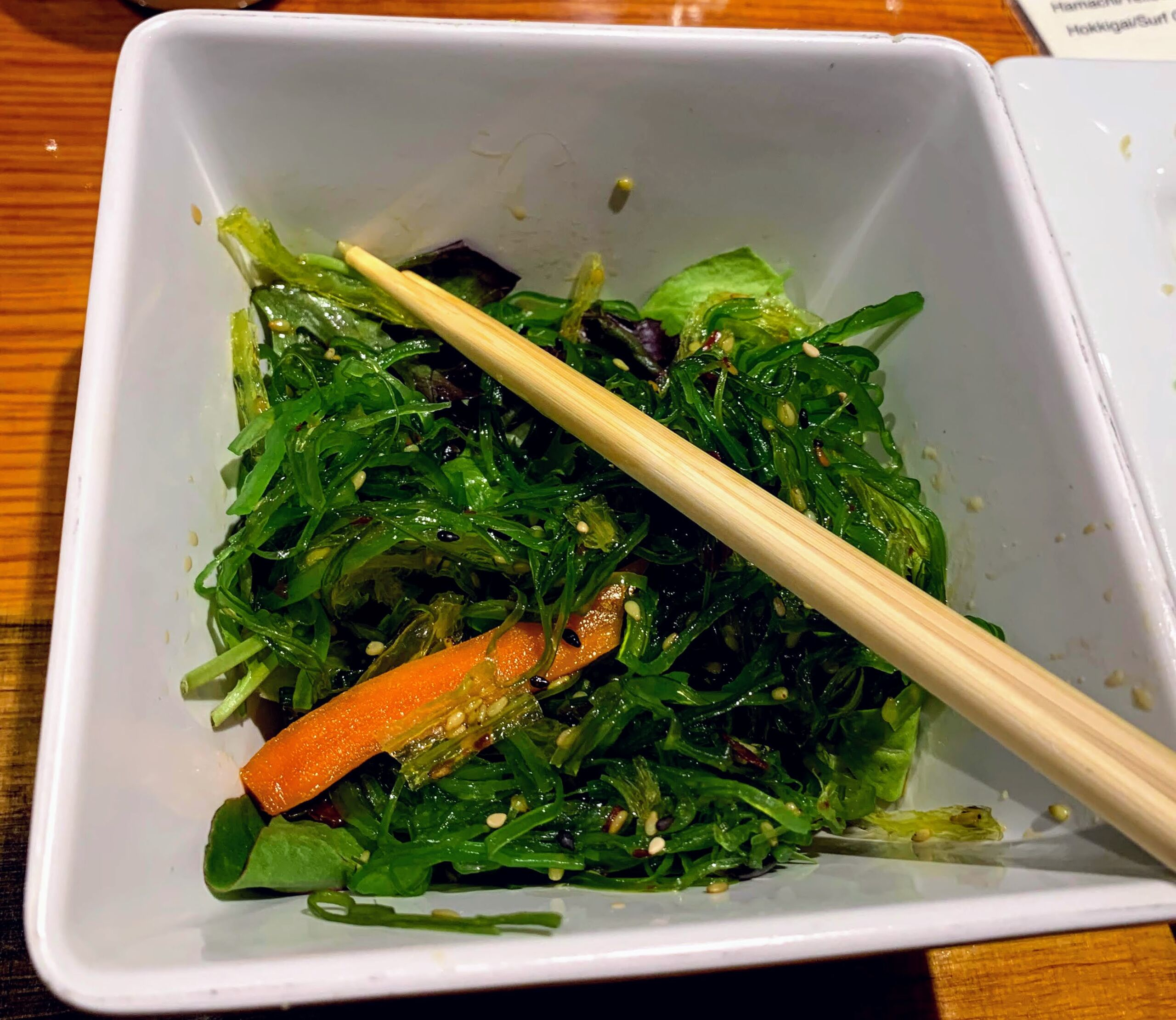 Can you really get good sushi in Kalispell MT? photo of seaweed salad